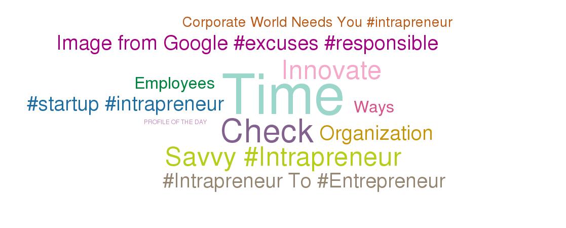 Being an intrapreneur